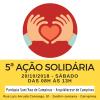5ª Ação Solidária acontece no sábado (20)