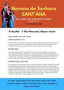 Primeiro dia da Novena de Sant'Ana